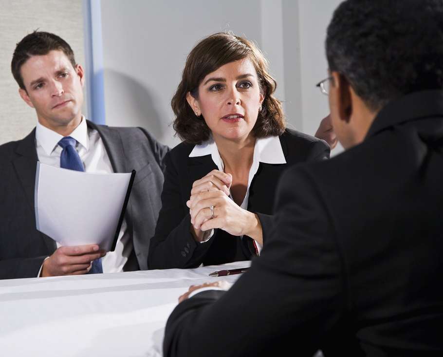 Employers conducting interview at CERC Ottawa office
