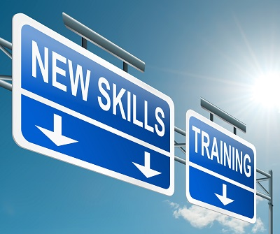 Road signs with New Skills Training for CERC COJG program